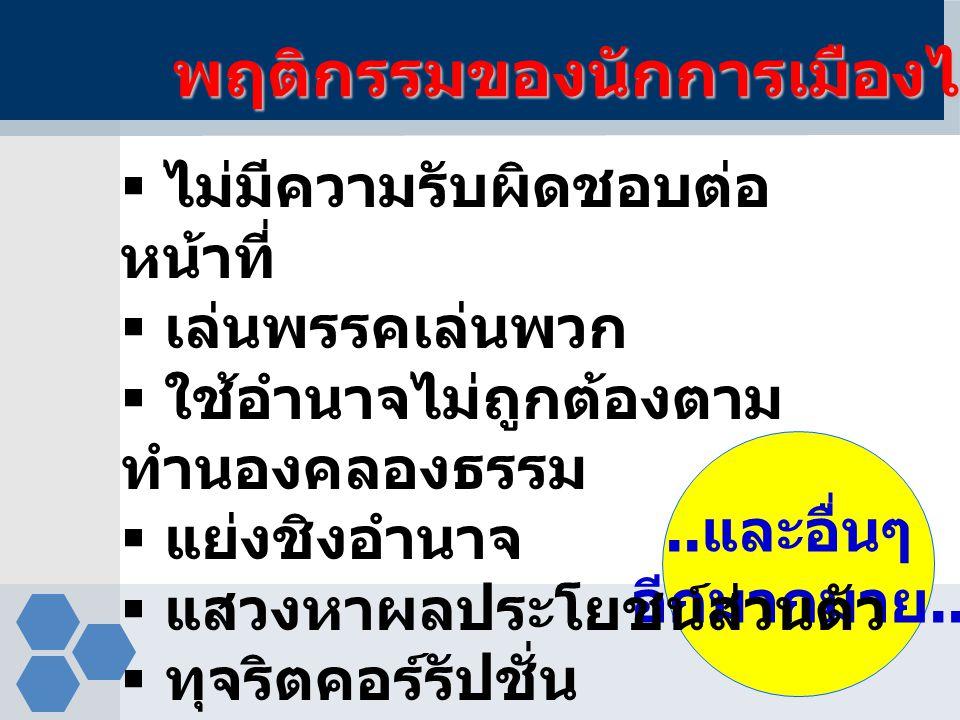 พฤติกรรมของนักการเมืองไทย