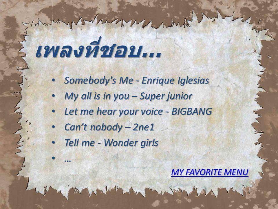 เพลงที่ชอบ… Somebody s Me - Enrique Iglesias
