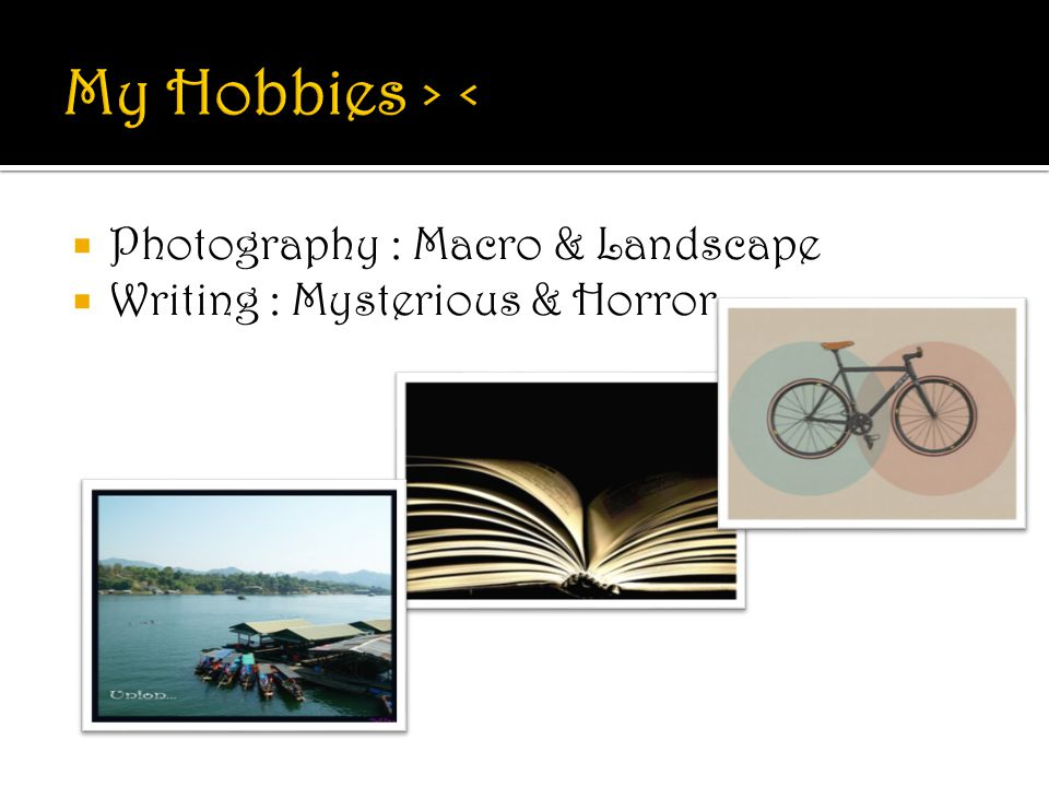My Hobbies > < Photography : Macro & Landscape