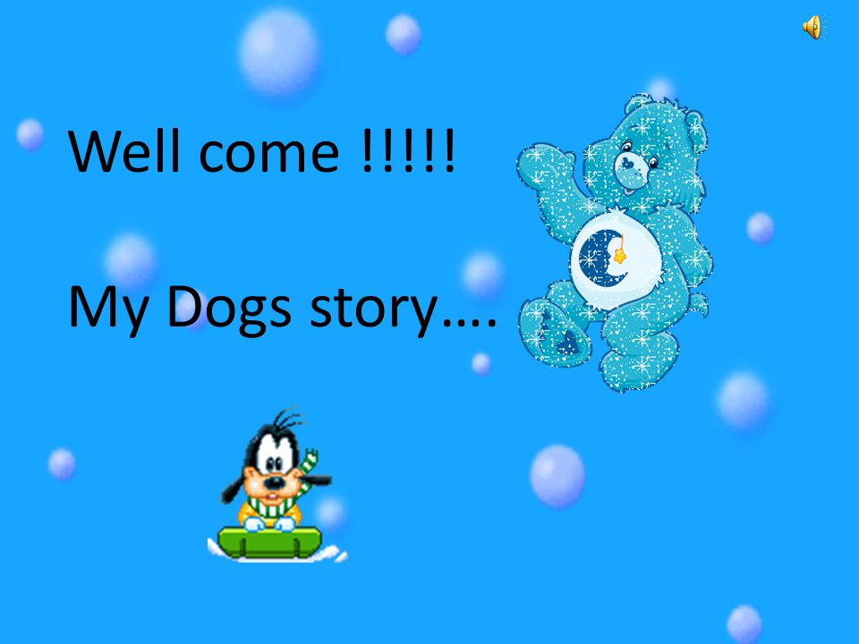 Well come !!!!! My Dogs story….