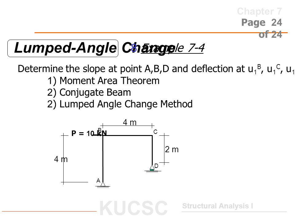 Lumped-Angle Change 8 Example 7-4