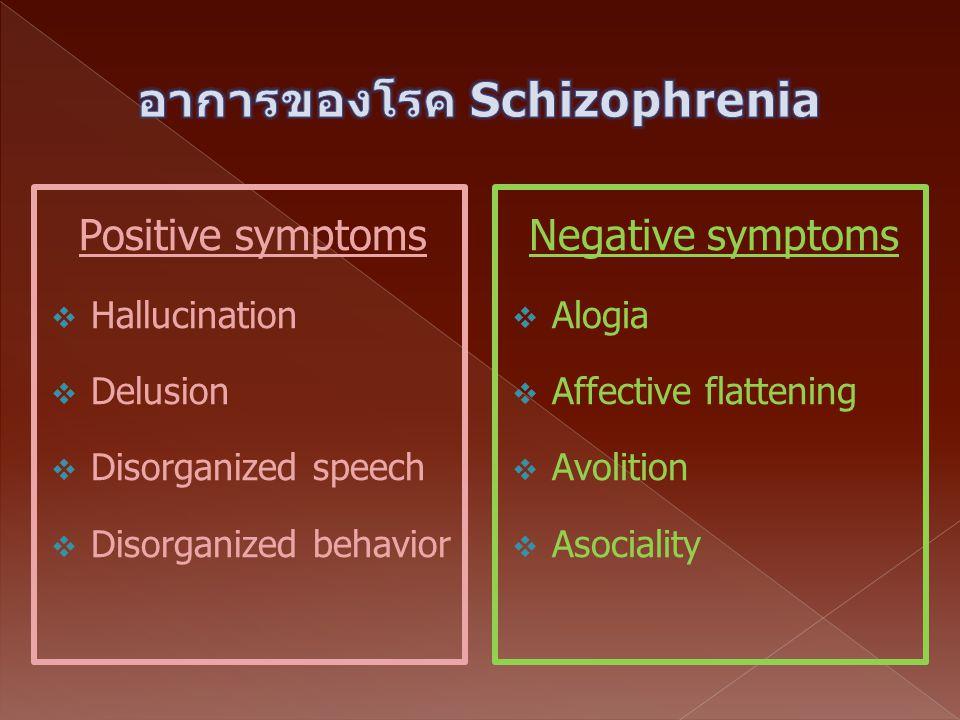 อาการของโรค Schizophrenia