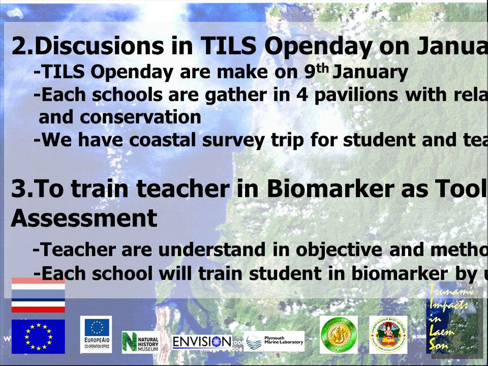 2.Discusions in TILS Openday on January 2009