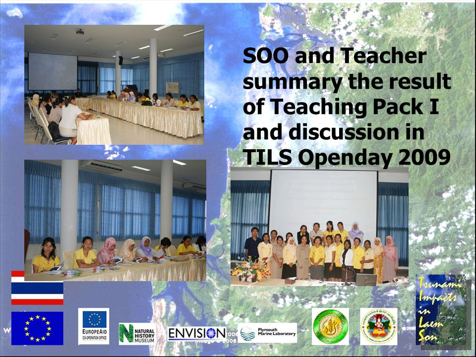 SOO and Teacher summary the result of Teaching Pack I and discussion in TILS Openday 2009