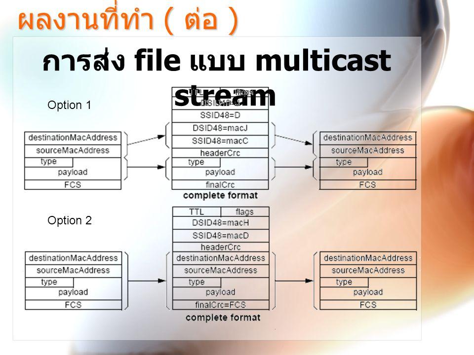 การส่ง file แบบ multicast stream