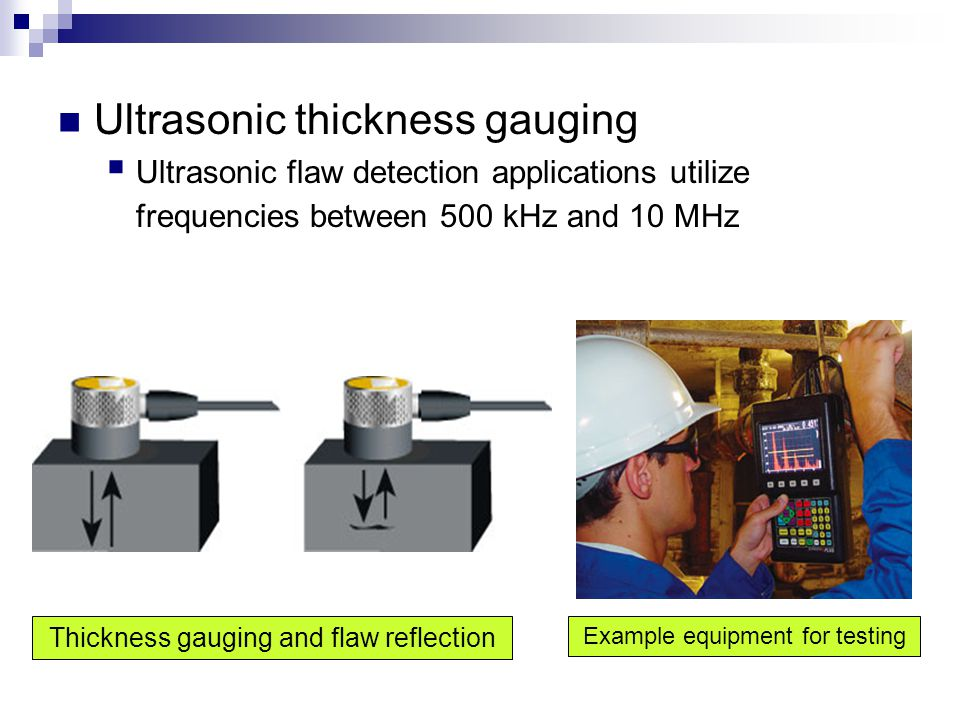 Ultrasonic thickness gauging