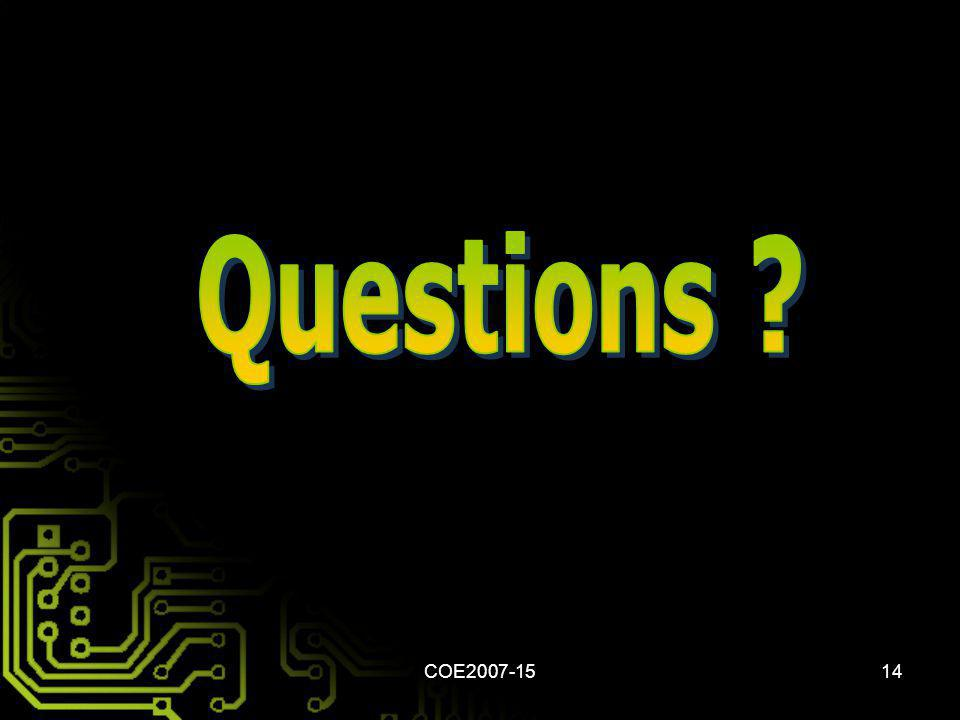 Questions COE2007-15