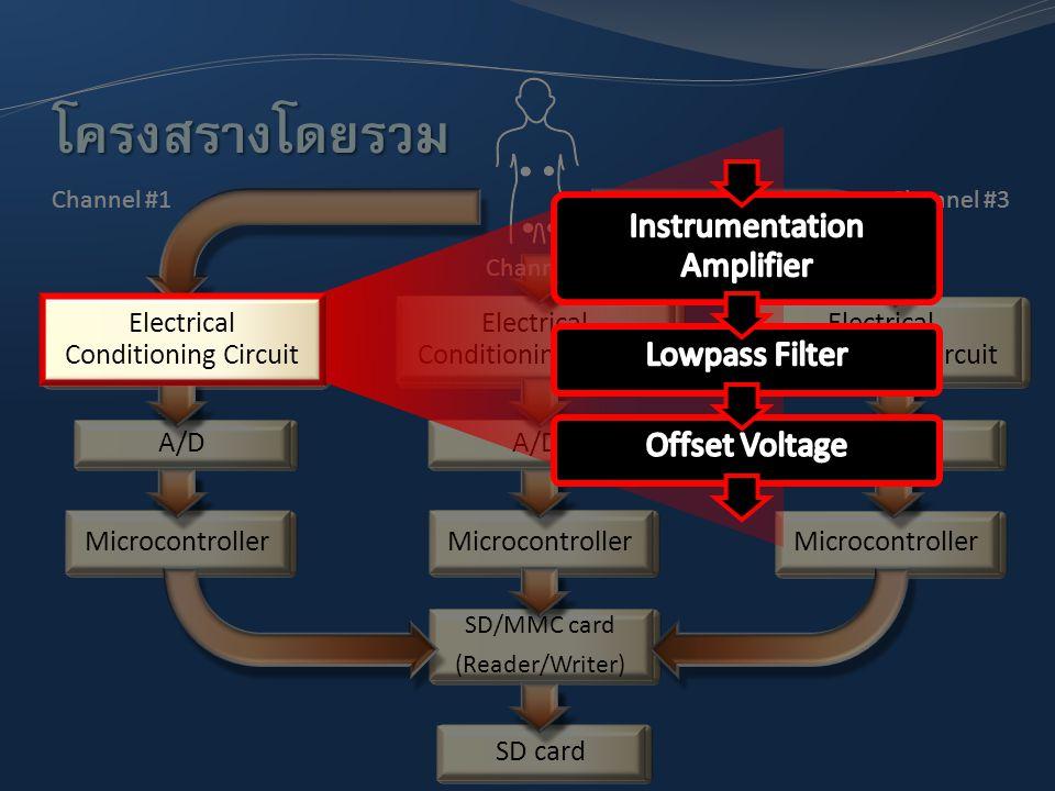 โครงสร้างโดยรวม Instrumentation Amplifier Lowpass Filter