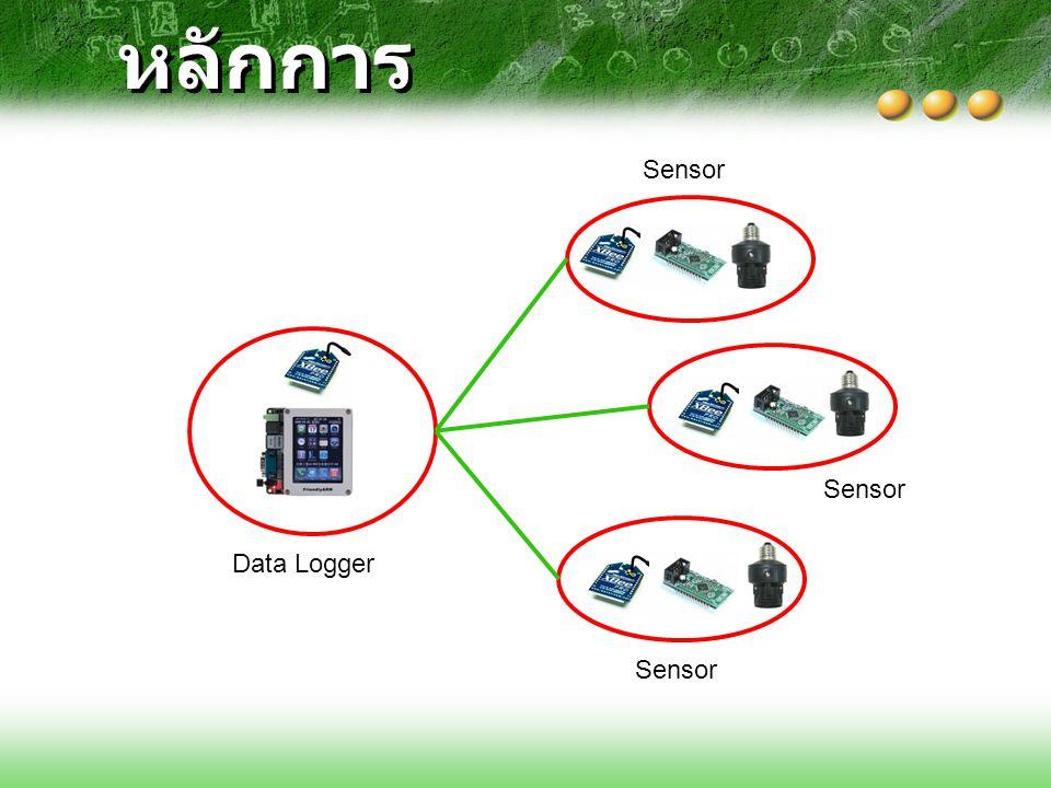 หลักการ Sensor Sensor Data Logger Sensor