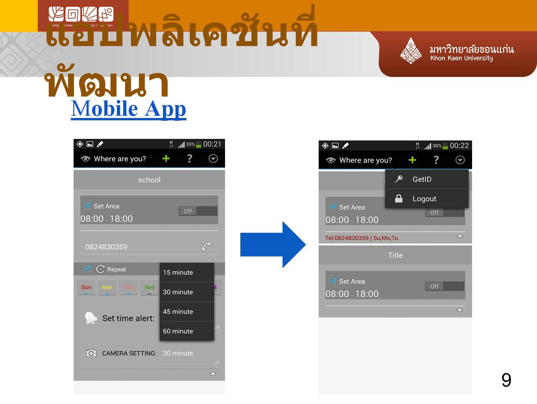 แอปพลิเคชันที่พัฒนา Mobile App 9