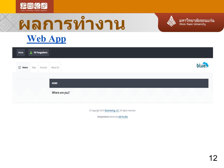 ผลการทำงาน Web App 12