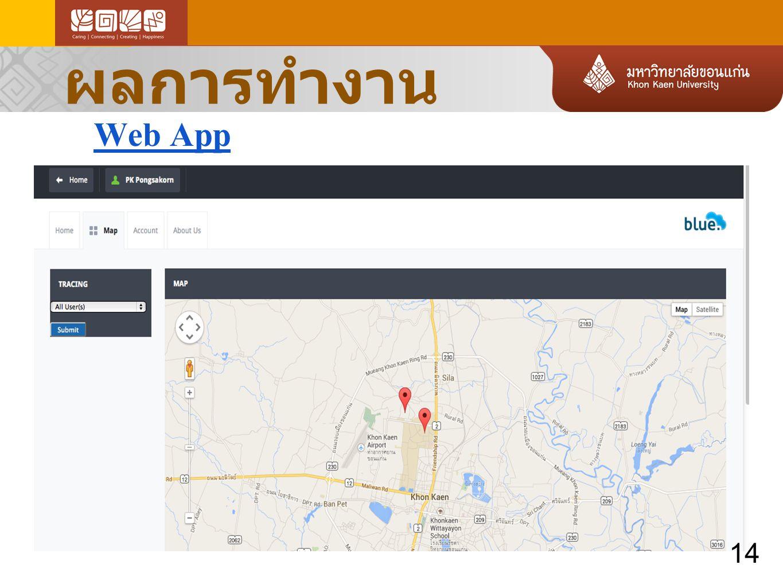 ผลการทำงาน Web App 14