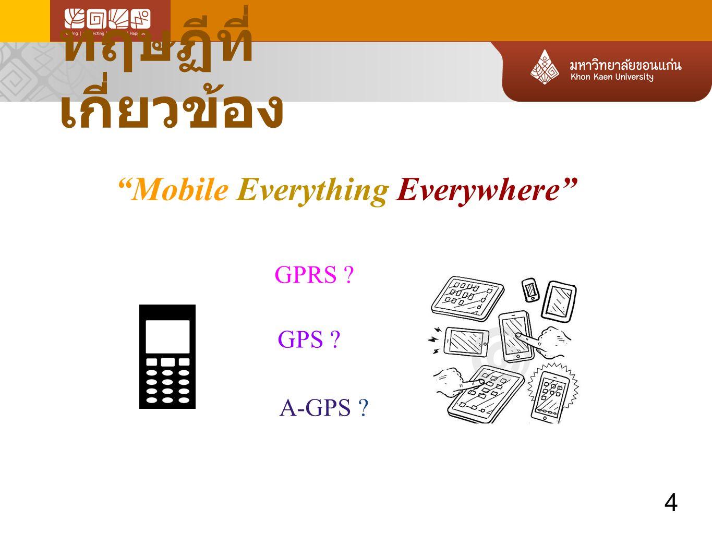 ทฤษฏีที่เกี่ยวข้อง Mobile Everything Everywhere GPRS A-GPS 4