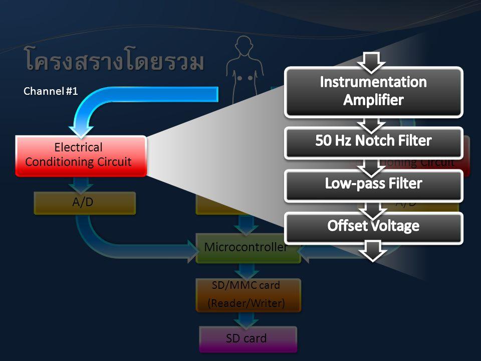 โครงสร้างโดยรวม Instrumentation Amplifier 50 Hz Notch Filter