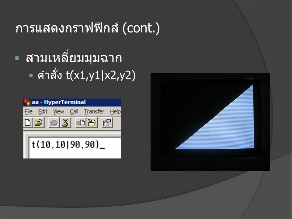 การแสดงกราฟฟิกส์ (cont.)