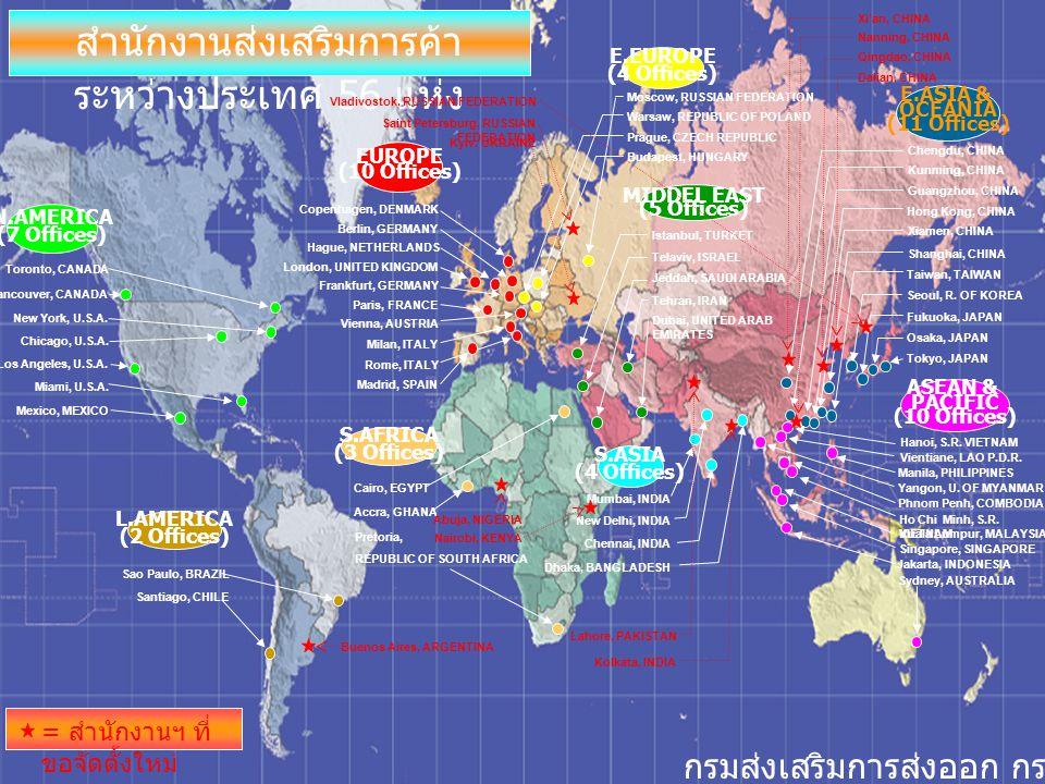สำนักงานส่งเสริมการค้าระหว่างประเทศ 56 แห่ง