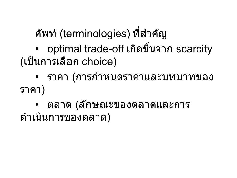ศัพท์ (terminologies) ที่สำคัญ
