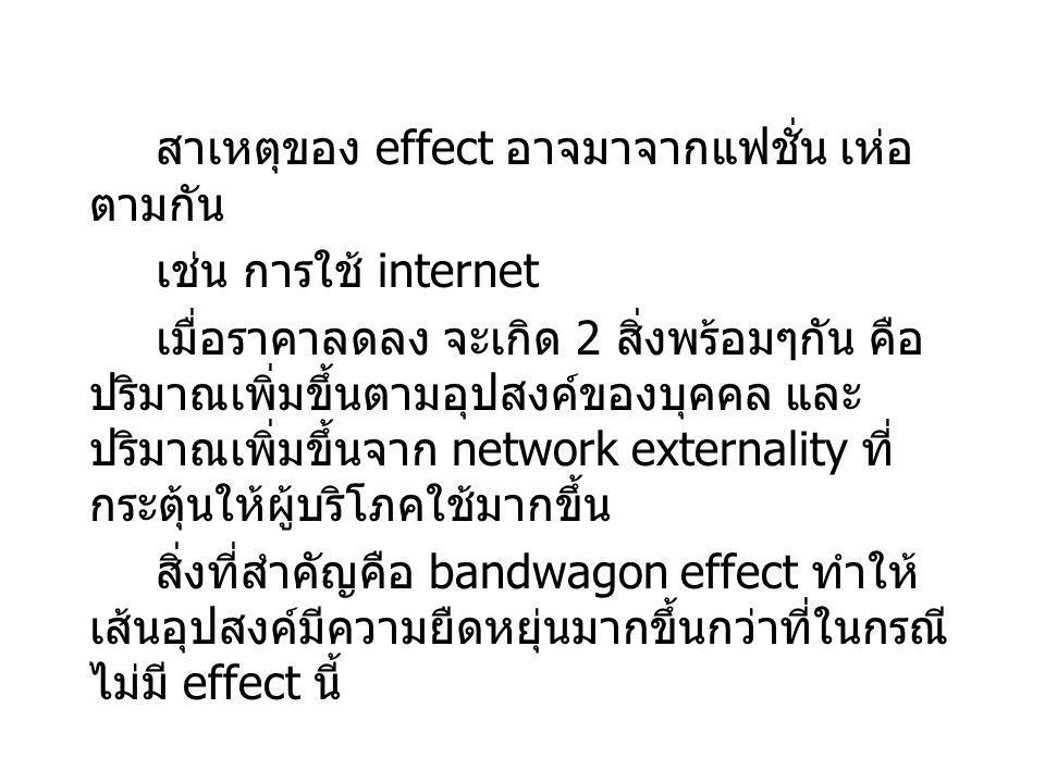 สาเหตุของ effect อาจมาจากแฟชั่น เห่อตามกัน