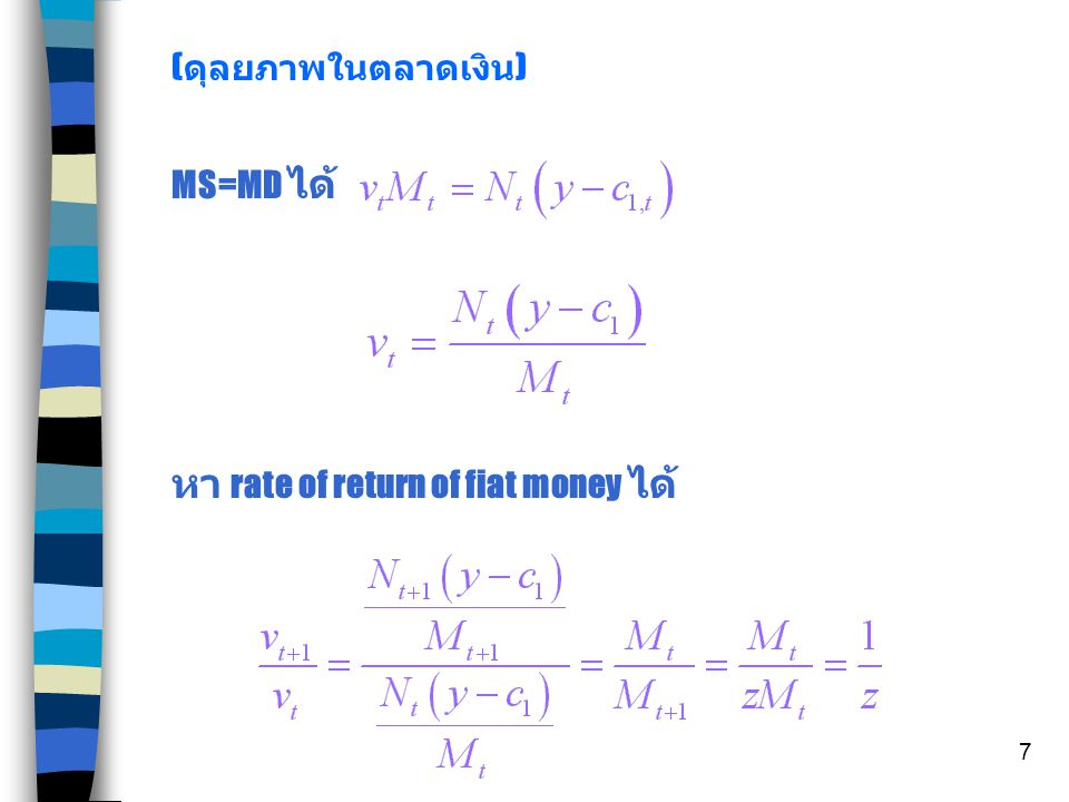 หา rate of return of fiat money ได้