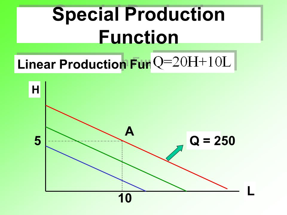 Special Production Function