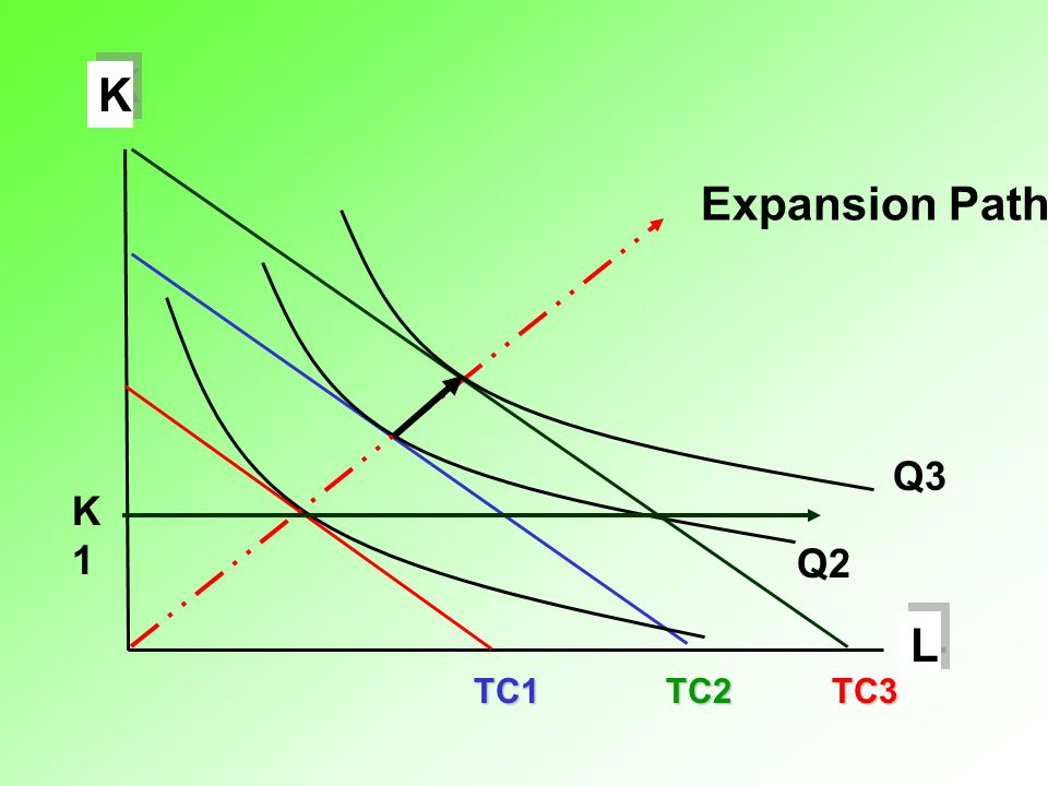 L K TC1 Q2 TC2 TC3 Expansion Path Q3 K1