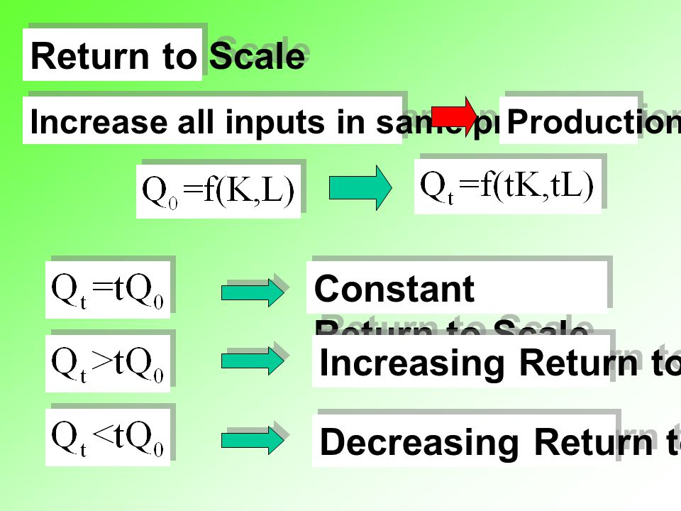 Constant Return to Scale