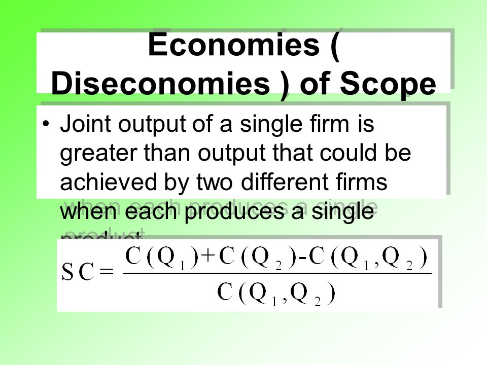 Economies ( Diseconomies ) of Scope