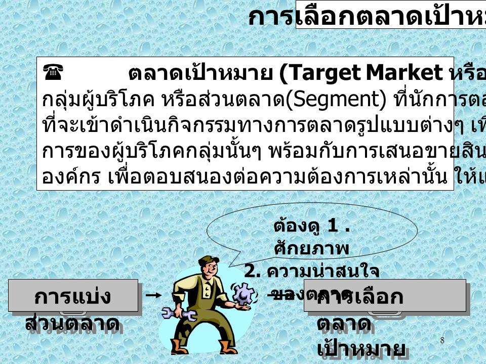 การเลือกตลาดเป้าหมาย