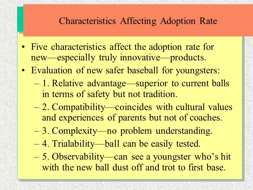 Characteristics Affecting Adoption Rate