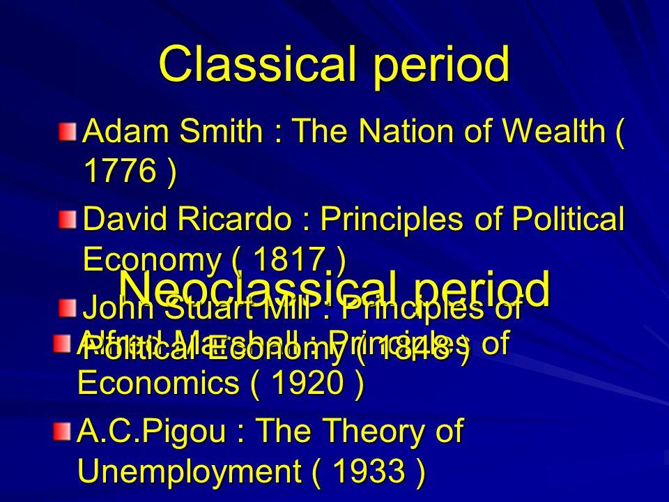Classical period Neoclassical period