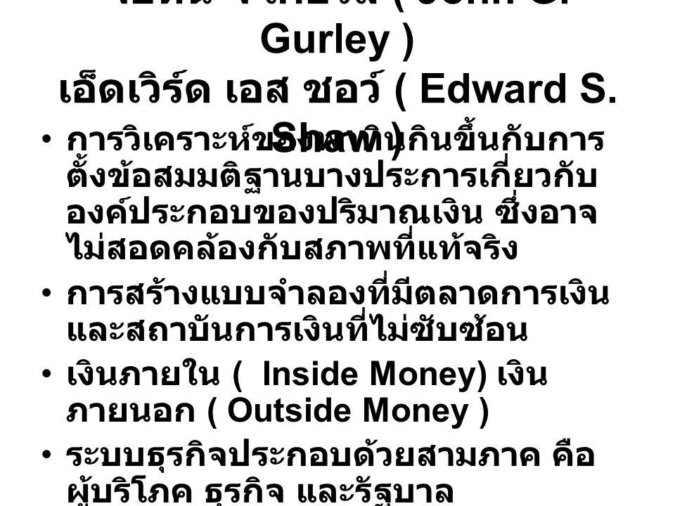 จอห์น จี เกอร์ลี ( John G. Gurley ) เอ็ดเวิร์ด เอส ชอว์ ( Edward S