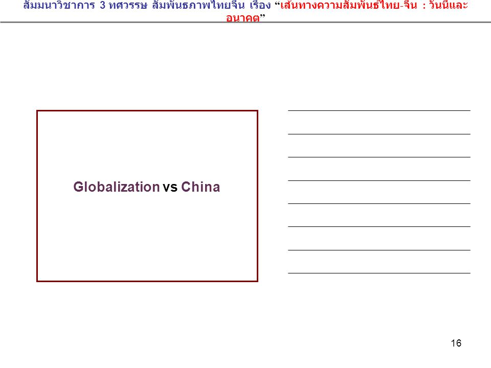 Globalization vs China