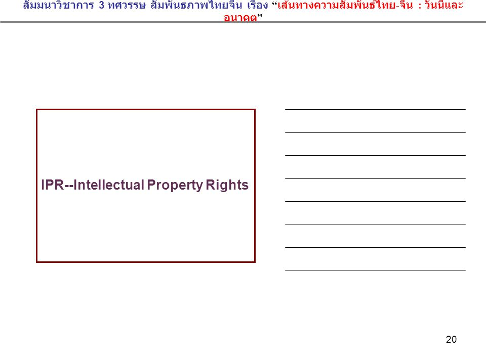 IPR--Intellectual Property Rights