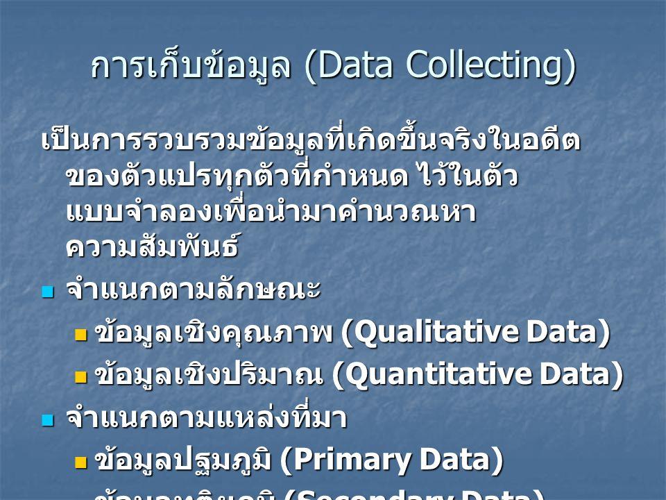 การเก็บข้อมูล (Data Collecting)