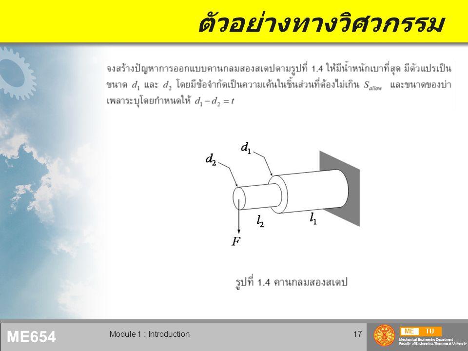 ตัวอย่างทางวิศวกรรม Module 1 : Introduction