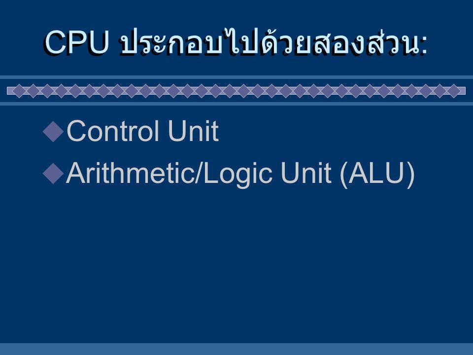 CPU ประกอบไปด้วยสองส่วน: