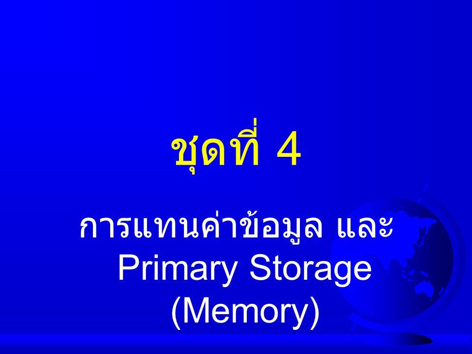 การแทนค่าข้อมูล และ Primary Storage (Memory)