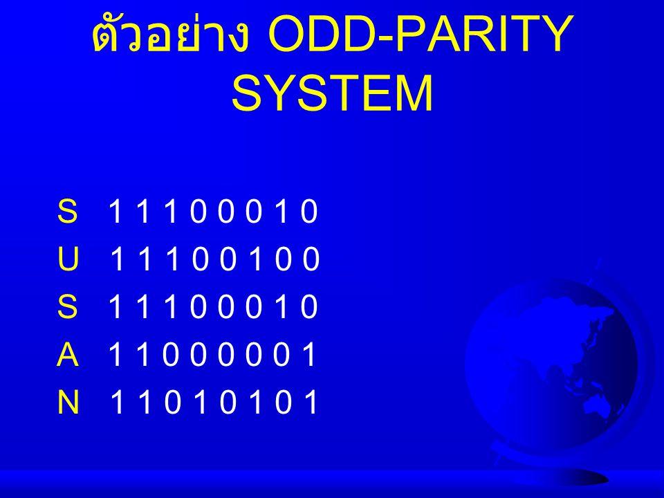 ตัวอย่าง ODD-PARITY SYSTEM