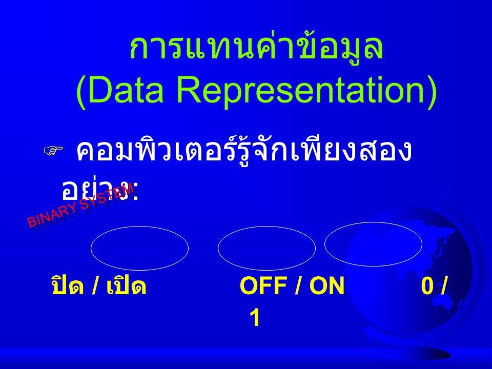 การแทนค่าข้อมูล (Data Representation)