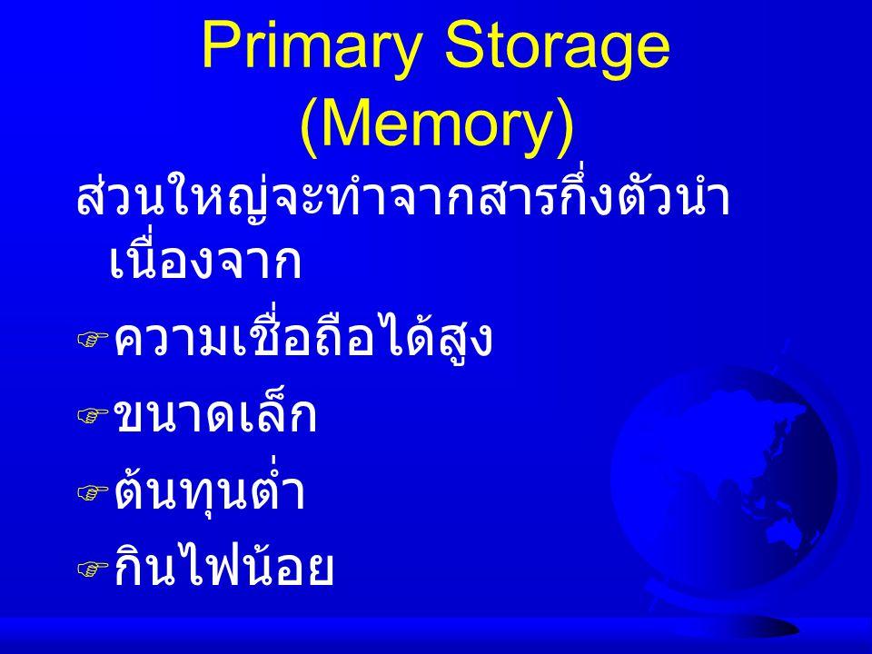 Primary Storage (Memory)