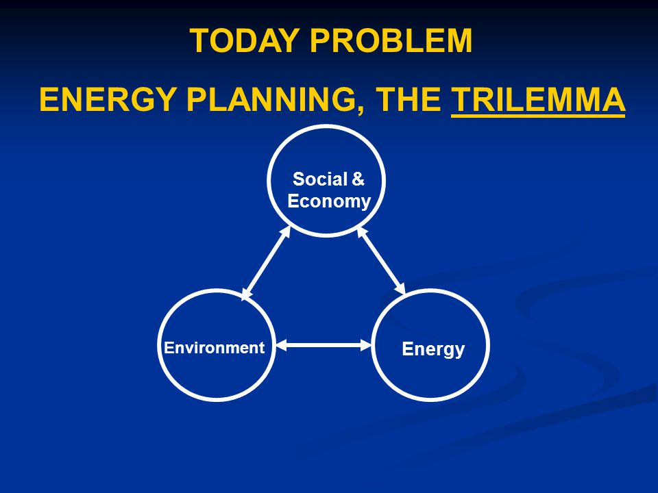 ENERGY PLANNING, THE TRILEMMA