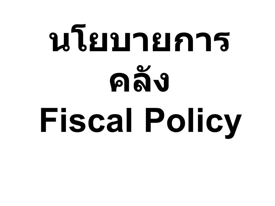 นโยบายการคลัง Fiscal Policy