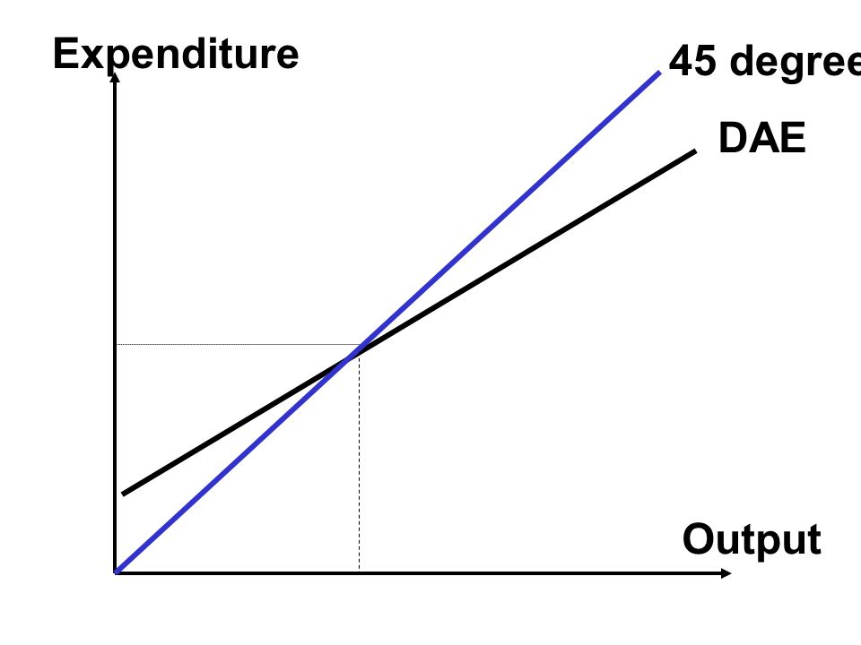 Expenditure 45 degree DAE Output