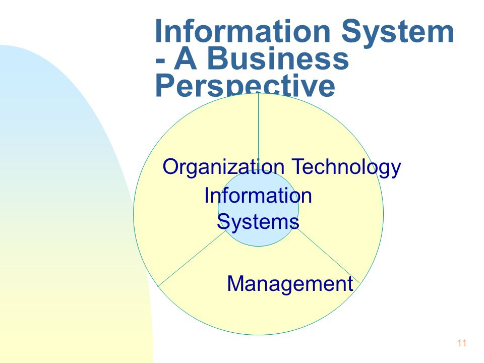 Information System - A Business Perspective