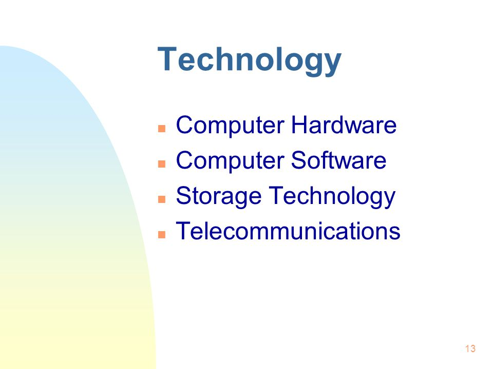 Technology Computer Hardware Computer Software Storage Technology