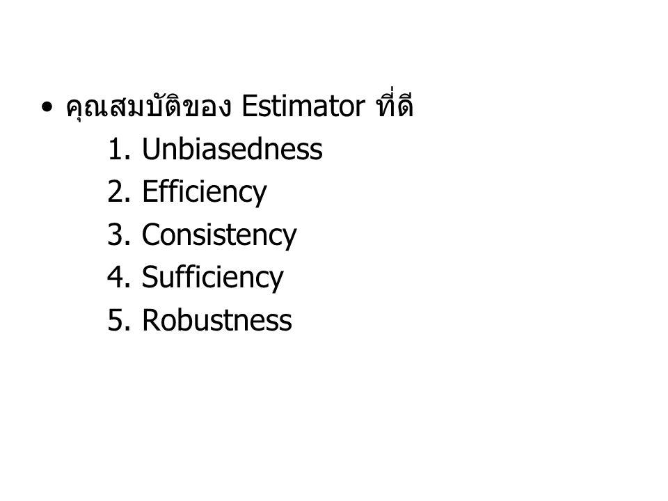 คุณสมบัติของ Estimator ที่ดี