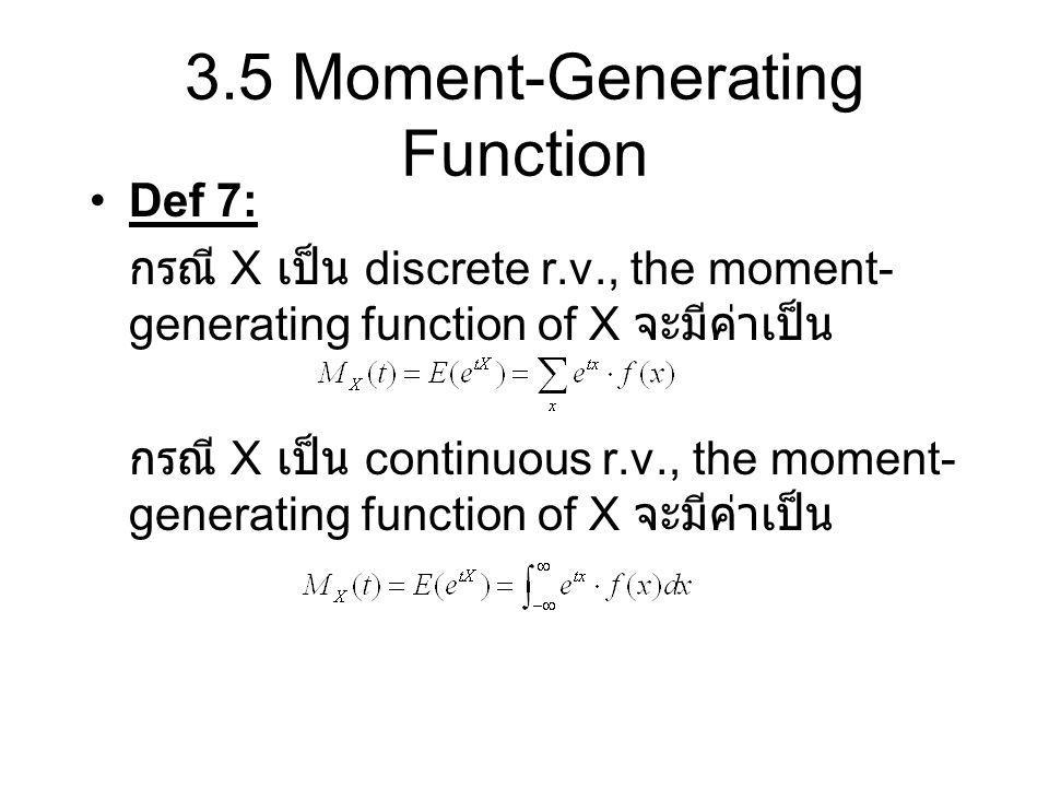 3.5 Moment-Generating Function