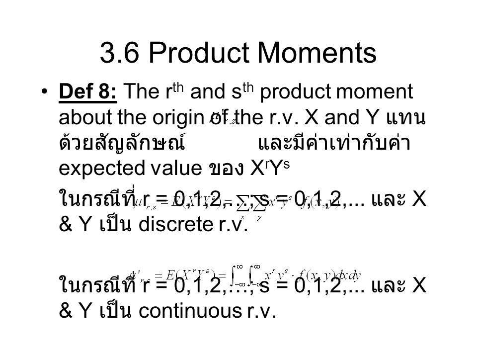 3.6 Product Moments