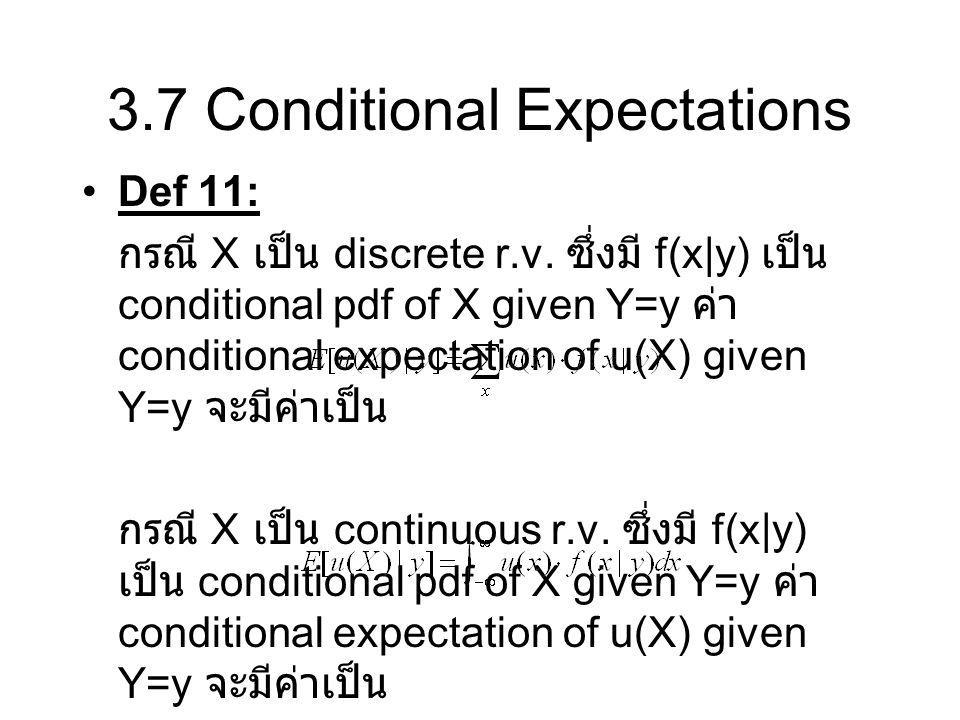 3.7 Conditional Expectations