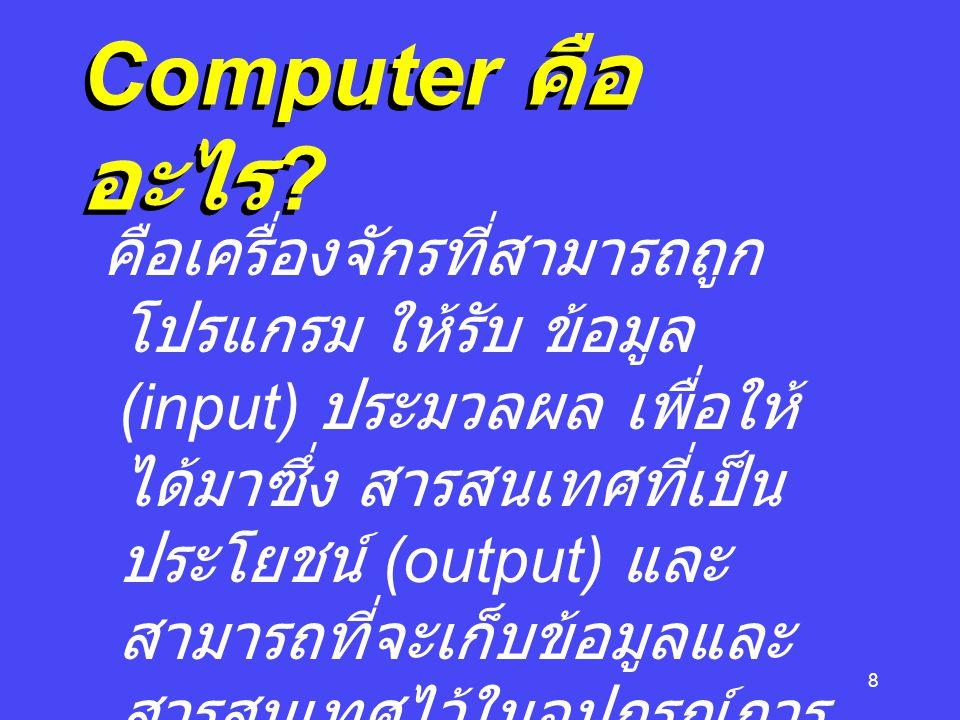 Computer คืออะไร